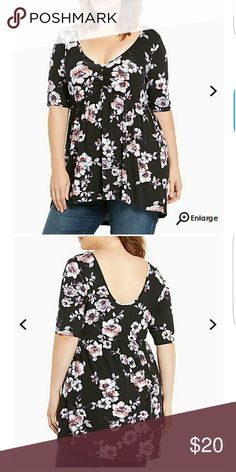 Torrid Floral Babydoll Top NWT New with tags babydoll top. Torrid size 1. It's so lovely! torrid Tops