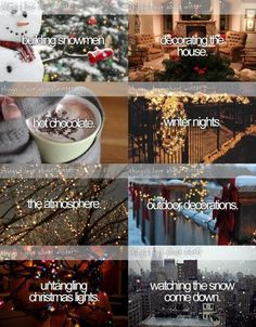 Things I love about winter...