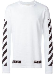 Off-White t-shirt à manches rayées