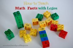 How to Teach Math Facts with Legos www.teachersofgoo...