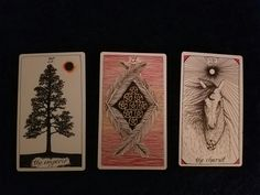 I got my new awsome Tarot cards today. My first reading on myself. Past/Present/Future.