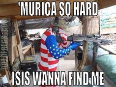 Because 'Murica, That's Why - 30 Pics Only In America, Pray For America, Military Jokes, Military Weapons, American Freedom, American Pride, Marines Funny, Pictures Of Soldiers, America Funny