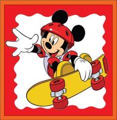 Mickey on Skateboard Party Decorations Mickey Mouse Pictures, Mickey Mouse Cartoon, Mickey Mouse And Friends, Mickey Minnie Mouse, Disney Mickey, Disney Toys, Disney Cartoons, Baby Disney, Disney Memes