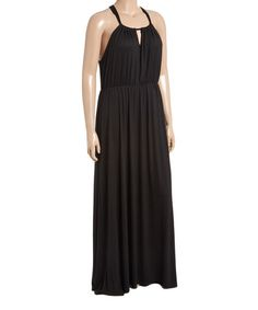 Another great find on #zulily! Black Keyhole Maxi Dress - Plus #zulilyfinds