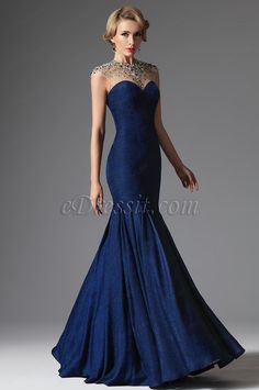 Gorgeous Blue color top tulle with beading sweet heart trumpet skirt #fashion#prom #dress #formal #evening, Shop: eDressit London Store