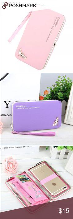 Women's wallets Luxury Brand Leather Wallets Women Fashion Long Hasp Purses Female Credit Card Holders Money Coin Zipper Pocket Phone Clutch Bag Bags Wallets