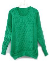 Vintage Knitting Loose Round Neck Green Pullover $34.90  #SheInside #hipster #love #cute #fashion #style #vintage #repin #follow