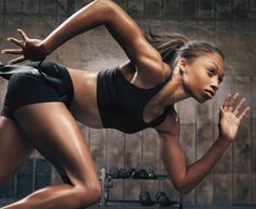 Gym Tights + Sweat = Attraction ! Who cares what your clothes look like if you take good care of your body. #Allyson Felix