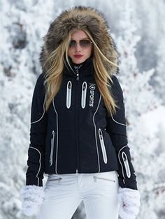 Ski/ #winter #Fashion mona-tp jacket with fur