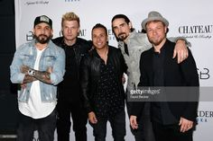 Singers A. J. McLean, Nick Carter, Howie Dorough, Kevin Richardson and Brian Littrell of the Backstreet Boys attend the after party of the debut of the group's residency 'Larger Than Life' at the Chateau Nightclub & Rooftop at the Paris Las Vegas on March 2, 2017 in Las Vegas, Nevada.