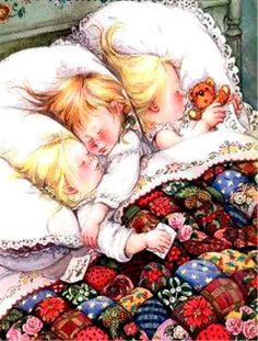 ...The children were nestled all snug in their beds; While visions of sugar-plums danced in their heads... Artist Lisi Martin