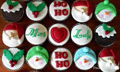 Cupcake Natal - Doce Bolinho by Ro