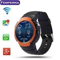 97.91$  Buy here - http://aliojm.worldwells.pw/go.php?t=32662802061 - Hot LEM3 Android 5.1 Bluetooth Smart Watch MTK6580 quad core smartwatch Support WIFI 3G GPS Really Smartwatch PK d5 x3 x5 k18