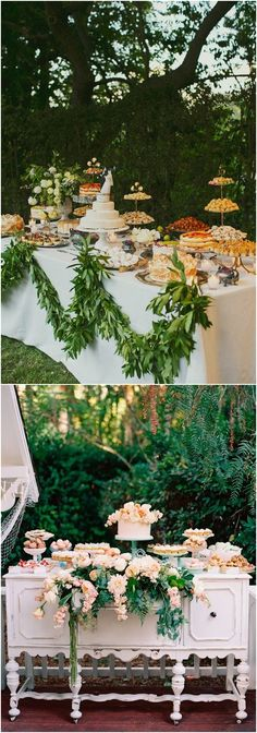 Amazing Wedding Dessert Tables & Displays #weddings #weddinginspiration