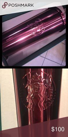 Starbucks rose gold venti tumbler. RARE Metallic rose gold venti tumbler brand new in box starbucks  Accessories