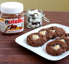 Nutella cookies with marshmallow centers. Who doesn't enjoy something with nutella in it?