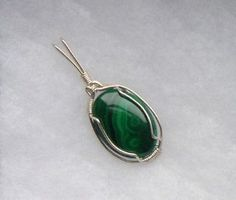 Wire Wrapped Pendants for Sale | SALE Sterling Silver Malachite Stone Wire Wrapped Pendant review | buy ...