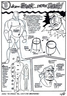 How To Draw The Venture Brothers - Page 5 Character Design Animation, Character Drawing, Character Concept, Bruce Timm, Animation Reference, Drawing Reference Poses, Cartoon As Anime, Ligne Claire, Cool Animations