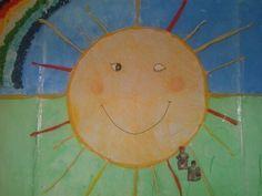 O gran sol no mural.
