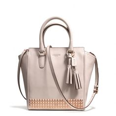 Coach Legacy Mini Tanner Crossbody in Studded Leather Resin/Parchment | coach fall 2013 handbags