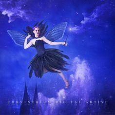 The Black Fairy by Corvinerium.deviantart.com on @DeviantArt
