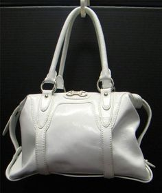 MICHAEL KORS MK WHITE PATENT LEATHER TOTE SATCHEL HANDBAG PURSE GOOD  CONDITION  MichaelKors  Satchel 773a698264937
