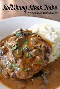 Why stand over the stove when you can make this deliciously Easy Salisbury Steak Bake!