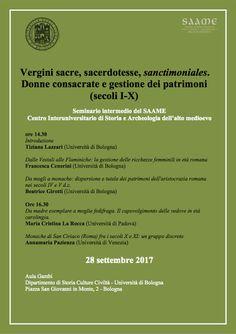 Italia Medievale: Vergini sacre, sacerdotesse, sanctimoniales