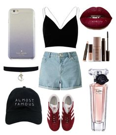 """Untitled #54"" by kimtahyung on Polyvore featuring River Island, Miss Selfridge, adidas, Kate Spade, Laura Mercier, Lancôme and Nasaseasons"