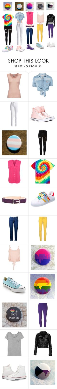 """LGBTQ+ Pride Outfiits"" by yanderewithacrush ❤ liked on Polyvore featuring M Missoni, GUESS, Barbour International, Converse, River Island, George, Nina Ricci, Dorothy Perkins and Yves Saint Laurent"