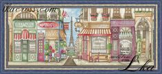 Size: 426x170 stitches. Full cross, half cross, backstitch, french knot. Colors count: 50 + 38 blended. Mouline DMC.