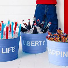 Patriotic Snack Buckets
