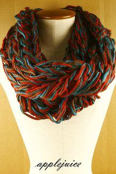 Braided infinity scarves