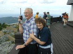 My oldest brother Brad and wife Carolyn shown here on the lookout platform atop Jay Peak, VT.