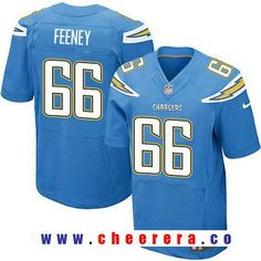 9eb25b6aaf5 Men s 2017 NFL Draft Los Angeles Chargers  66 Dan Feeney Light Blue  Alternate Stitched NFL Nike Elite Jersey