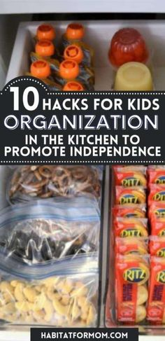 10 Kids Kitchen Organization Hacks to Promote Independence – Habitat for Mom Baby Led Weaning First Foods, Baby First Foods, Crockpot Recipes, Easy Recipes, Easy Meals, Kitchen Organization, Organization Hacks, Feeding Baby Solids, Dish Drawers