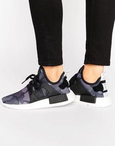 purchase cheap 8d804 23020 adidas Originals NMD Xr1 Sneakers In Black Camo at asos.com