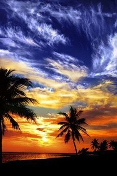 Sunset on Key West Beach, Florida