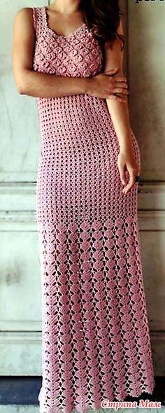 . Розовое макси-платье Romance de Marcelo Nunes. - Все в ажуре... (вязание крючком) - Страна Мам