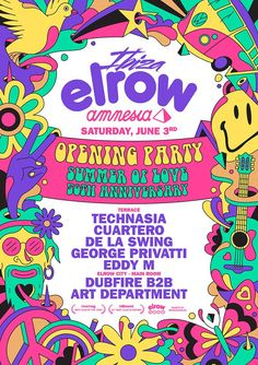 #housemusic elrow reveal line-up for 'Summer of Love' opening party at Amnesia: The transgressive Spanish party starters announces Art…