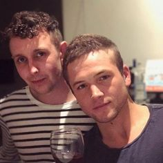 Taron Egerton recently taken (is this his Robin Hood haircut?)
