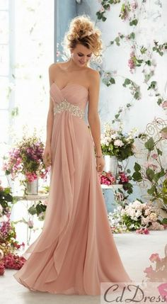 Ooh... Love this colour! Romantic, soft Wedding dress... <3
