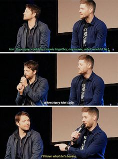 I Don't Understand That Reference Jensen And Misha, Jensen Ackles, Kings Of Con, Spn Memes, Funny Memes, Fangirl, Supernatural Destiel, Super Natural, Misha Collins