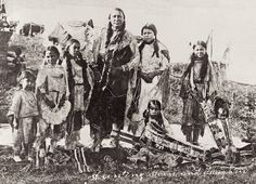 Kiowa leader Hunting Horse stands with his daughters in this 1908 photograph by J.V. Dedrick of Taloga, Oklahoma. He served as a scout for Gen. George Custer, and he lived to be 107, dying in the same year, 1953, when this magazine was founded.  – Courtesy Library of Congress –