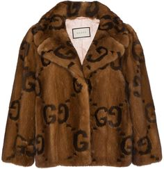 Gucci Fur jacket with double G logo Look Fashion, Teen Fashion, Fashion Outfits, Fashion Design, Shearling Jacket, Fur Jacket, Brown Jacket, Balmain Clothing, Piece Of Clothing