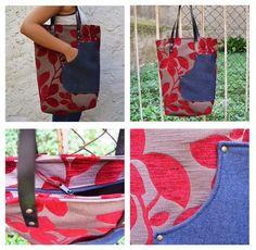Otra muestra de comodidad para tu bolso de uso diario. Es amplio y de líneas sencillas. Un básico realizado en tela de tapicería muy resistente. Es para ti CARMENCITA.