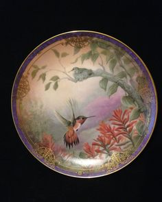 Vintage Bradford Exchange Decorative Plate Nature's Little Treasures Limited Edition 1993 Delicate Splendor Hummingbird Collectible Plate by ThePokeyPoodle on Etsy