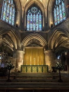 Tewkesbury Abbey's High Altar; An Anglo-Catholic parish in the Church of England and former Benedictine house.