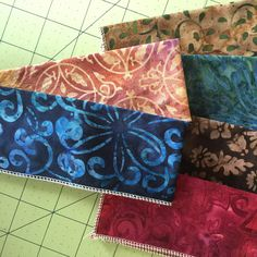 Pretty Batiks for the different layers of the Your Birth Cesarean Apron.