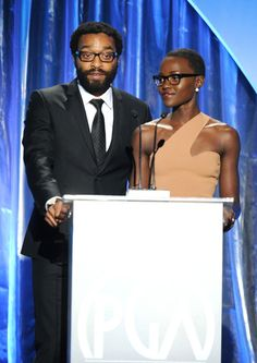 Chiwetel Ejiofor On Stage At The 25th Annual Producers Guild Of America Awards